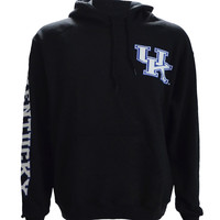 UK Interlock on a Black Hoodie