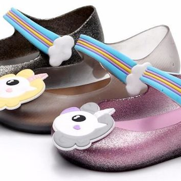 Unicorn Jelly Sandals For Girls