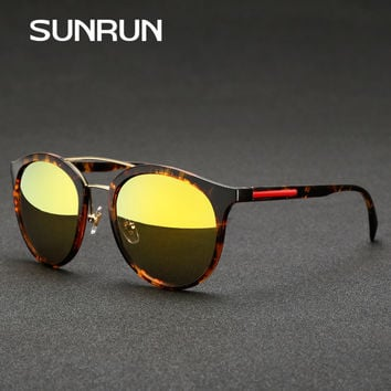SUNRUN Brand 2017 New Round Vintage Sunglasses Men Eyewears Accessories uv400 Sun glasses for Women SPS04R