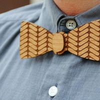 Wooden, Laser Cut Bow Tie - Handsome, Custom Mens Gift from Adler Wood