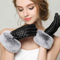 Gours Winter Genuine Leather Gloves for Women Fall Fashion Warm Glove