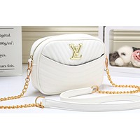 LV Fashion Hot Selling Lady's Corrugated Single Shoulder Bag White