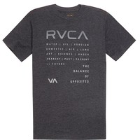 RVCA Chronicle T-Shirt - Mens Tee - Black