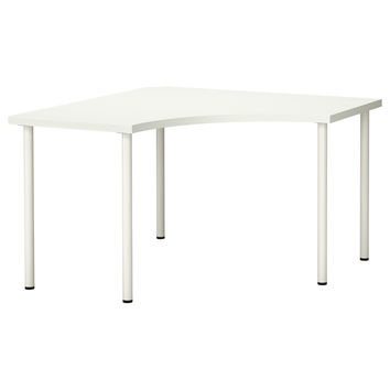 LINNMON/ADILS Corner table - black-brown/silver color - IKEA