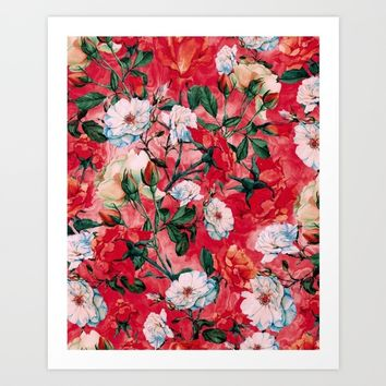 Rose Red Art Print by RIZA PEKER