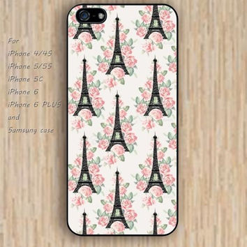 iPhone 5s 6 case Eiffel Tower flowers fashion dream phone case iphone case,ipod case,samsung galaxy case available plastic rubber case waterproof B718