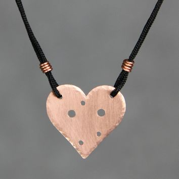 Personalized 14k rose gold constenllation heart silk thread pendant necklace copper Bridesmaids gifts Free US Shipping handmade Anni Designs