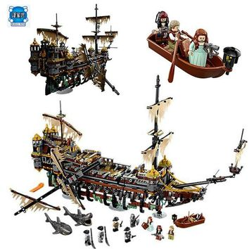 LEPIN 16042 Pirates of The Caribbean Movie Captain Jack Silent Mary Building Block Toys Compatible with Lepins Pirates Caribbean