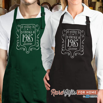 30th Birthday, 1985 Birthday, Full Length Apron, 30th Birthday Idea, 30th Birthday Present, 30th Birthday Gift,  For The Lucky 30 Year Old!