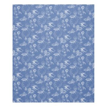 Alice in Wonderland Teatime Blue Fleece Blanket