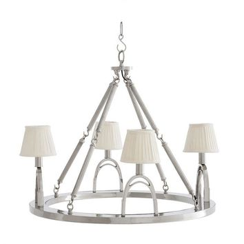 4 LIGHT WAGON WHEEL CHANDELIER | EICHHOLTZ JIGGER