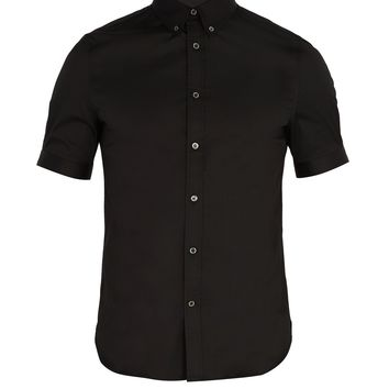 Brad Pitt short-sleeve poplin shirt | Alexander McQueen | MATCHESFASHION.COM UK