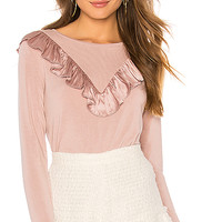 Generation Love Scarlett Ruffle Top in Old Rose | REVOLVE