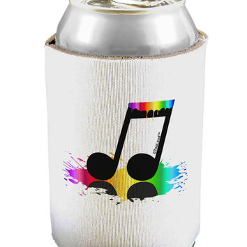 Paint Music Note Can / Bottle Insulator Coolers
