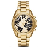 Watch Hunger Stop Oversized Bradshaw 100 Gold-Tone Watch | Michael Kors