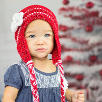 CROCHET PATTERN Girls Hat INSTANT Download / Crochet Girls Beanie Pattern for pictures / Pattern for kids / Crochet Beanie pattern for girls