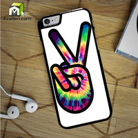 Hippie Peace Sign iPhone 6S Case by Avallen