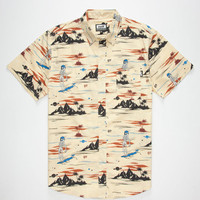 Neff Astro Death Beach Mens Shirt Yellow  In Sizes