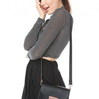 Brandy ♥ Melville |  Mini Leather and Rose Gold Crossbody - Just In