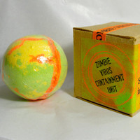 Zombie Spore Bath Bombs * With Coconut Oil * Moisturizing * Colors Water * Halloween Bath Bomb * Spa Bath Soak * Colorful Bath