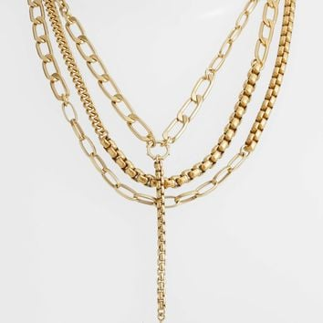 Vince Camuto Layered Chain Statement Necklace | Nordstrom