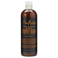 Shea Moisture African Black Soap 2-in1 Bubble Bath & Body Wash 16oz