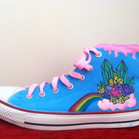 Rainbow Shoes  Converse by denimtrend on Etsy