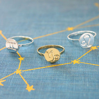 Zodiac Disc Rings