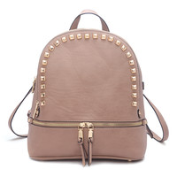 Segolene Paris Khaki Stud Backpack | zulily