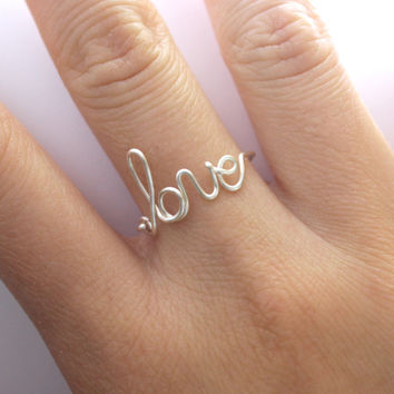Gift  Love Ring by DesignedByLei on Etsy