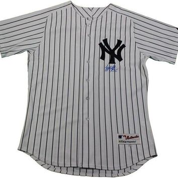 ONETOW Tyler Austin Signed Autographed New York Yankees Baseball Jersey (MLB Authenticated)