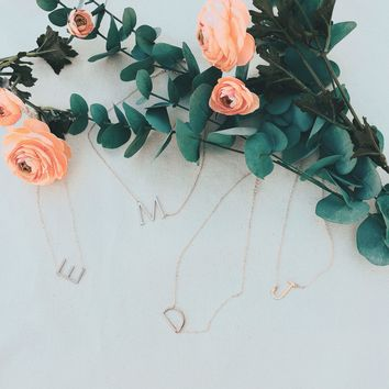 Individuality Initial Rose Gold Necklace
