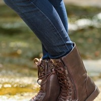 Walk All Over You Boots-Chocolate