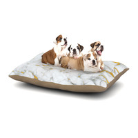 "KESS Original ""Gold Flake"" Marble Metal Dog Bed"
