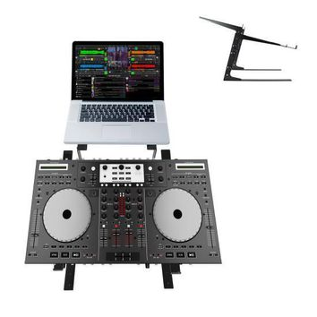 Universal Dual Device Laptop Stand, Sound Equipment DJ Mixing Workstation