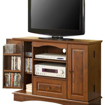 Modish Brown Colored Bedroom TV Console with Media Storage by Walker Edison