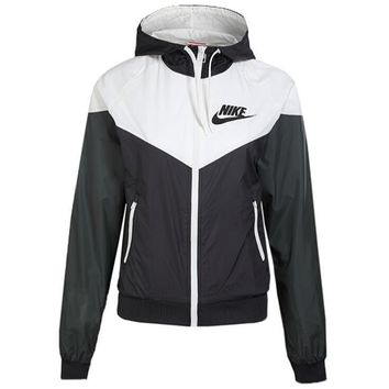 Nike Trending Women Men Casual Print Zipper Hoodie Cardigan Sweatshirt Jacket Coat Windbreaker Sportswear I-1