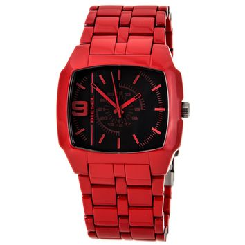 Diesel DZ1551 Men's Black Dial Red Acetate Plastic Bracelet Watch