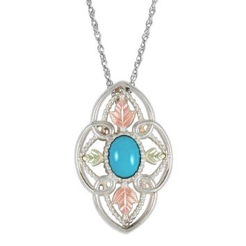 Black Hills Gold Sterling Silver and Turquoise Pendant