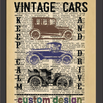 "Custom Vintage Car Art,Custom Dictionary Wall decor,Decor Wall Art, 8""x10"" Digital JPEG File, 300dpi,"