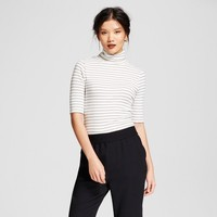 Women's Striped Elbow Turtleneck - A New Day™