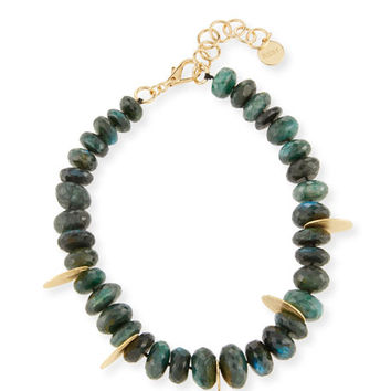 NEST Jewelry Faceted Green Labradorite Beaded Necklace