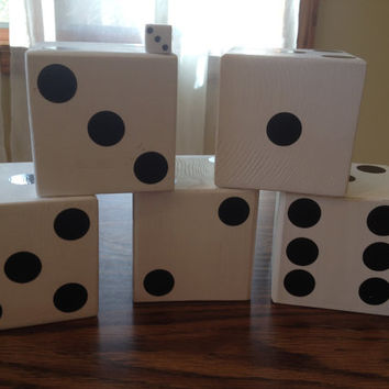 Lawn dice. Yard dice. Wedding, Family or Tailgating Yahtzee
