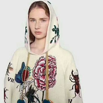 Gotopfashion GUCCI  flower rose print sweater hoodie pullover I-AGG-CZDL