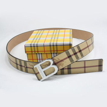 Perfect BURBERRY Woman Fashion Smooth Buckle Belt Leather Belt
