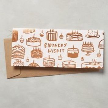 Sycamore Street Press Birthday Wishes Card in Peach Size: One Size Books
