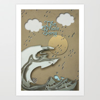 The Whale Song Art Print by Pascal Deckarm