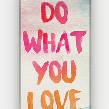 Do What You Love - Watercolor - Full printed case for iPhone - by HeartOnMyFingers - CMB-342