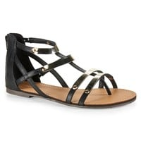 Faux Metal Gladiator Sandal