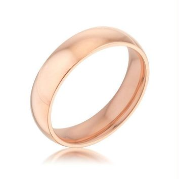 5 mm IPG Rose Goldtone Stainless Steel Band [ clone ], Size 5
